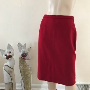 Vintage 60s Pendleton Red Wool Pencil Skirt XS/S